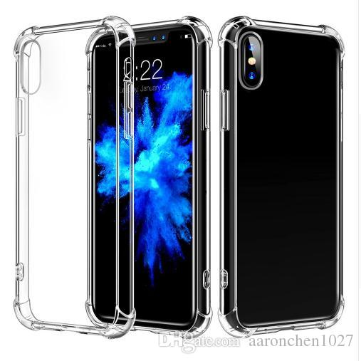 Luxury Shockproof Bumper Transparent Silicone Phone Case For iPhone 11 Pro 2019 X XS XR Max 8 7 6 6S for Samsung S10 s10e Note 10 Back Cover