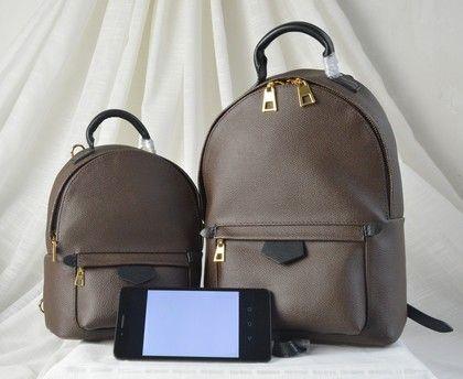 2019 новый одноместный двойное плечо женский Medium22cm mini18cm рюкзак коричневый моно леди натуральная кожа рюкзак Марка классические сумки 41562