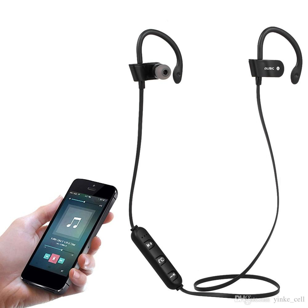 Neckband Bluetooth Earphone Wireless Headphone with Microphone Stereo Ear Hook Headset Sport Earbuds for Phone MP3 Samsung