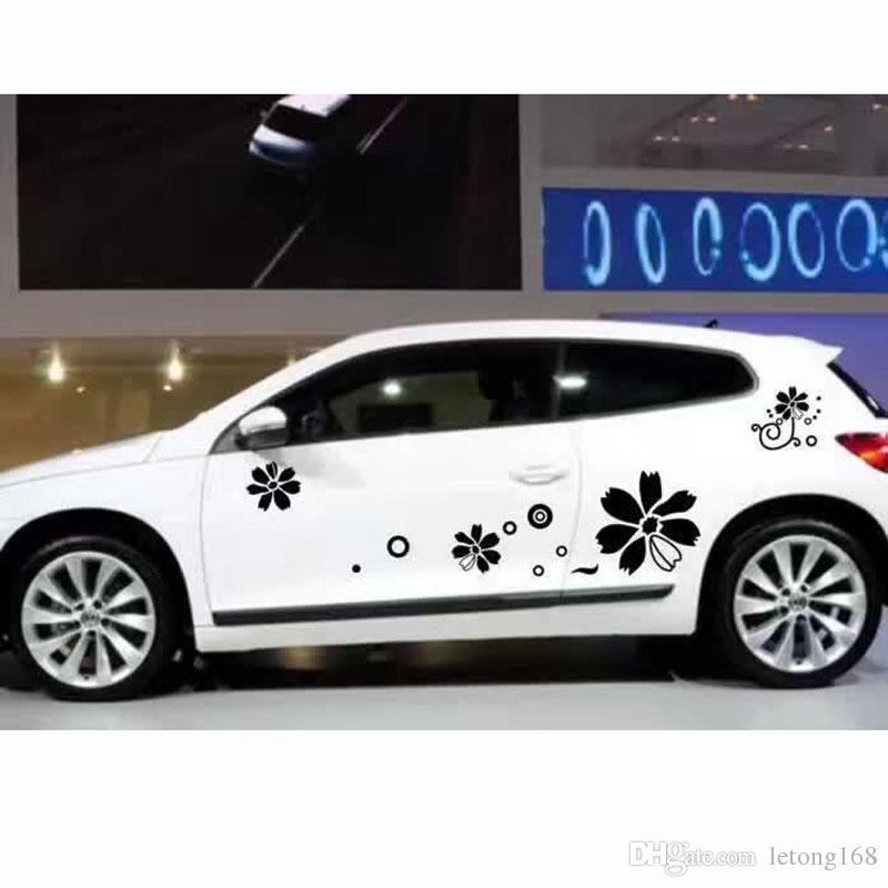 Personalidade Adesivos de carro Arranhões Escultura Carroçaria Capa de flor de videira