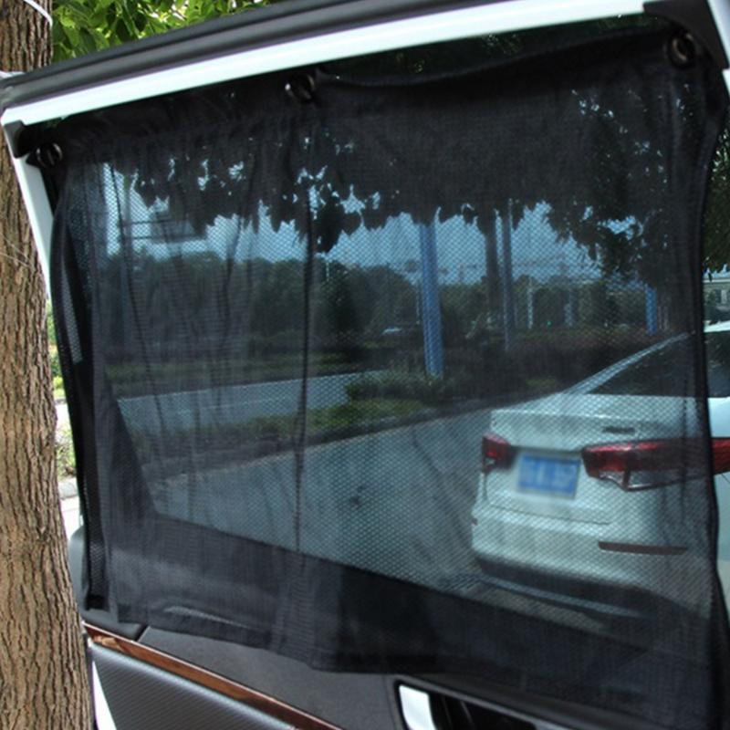 2 PC를 자동 자동차 커튼 태양 그늘 흡입 컵 보호 창 유니버설 자동차 차양 선 스크린 차단 커튼