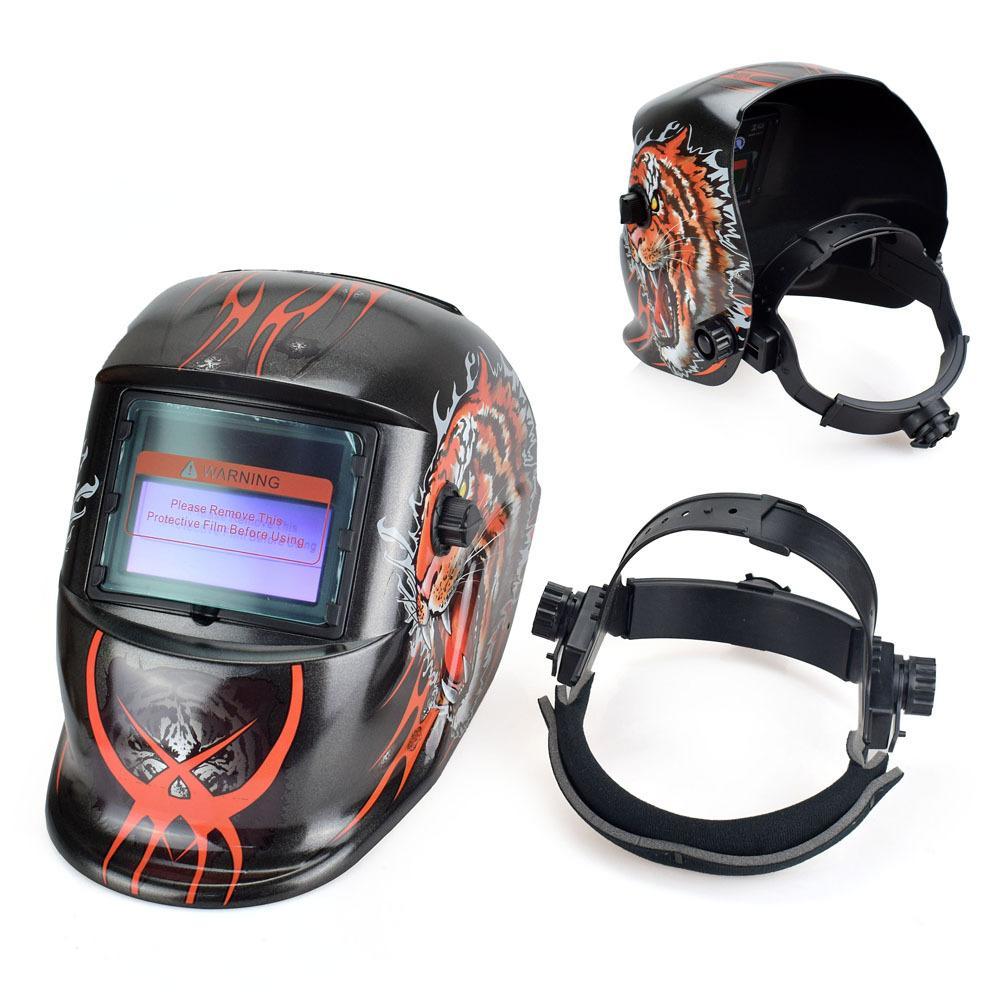 Totalmente automático automático de luz alimentado por energia solar soldagem capacete protetor máscara máscara de solda elétrica