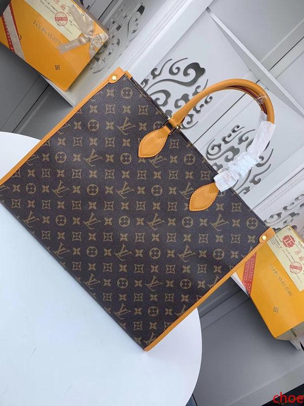 # 1155 5A L Marque V OnTheGo Sacs fourre-tout sac à main femme mode classique d'embrayage poignée supérieure sac de soirée en cuir véritable grande capacité Sac