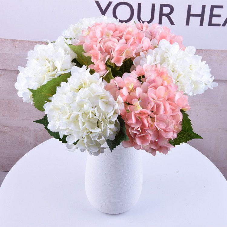 Artificial Hydrangea Flower 6 Head s47cm Fake Silk Flowers Hydrangeas Wedding Centerpieces Party Decorative Home Decor