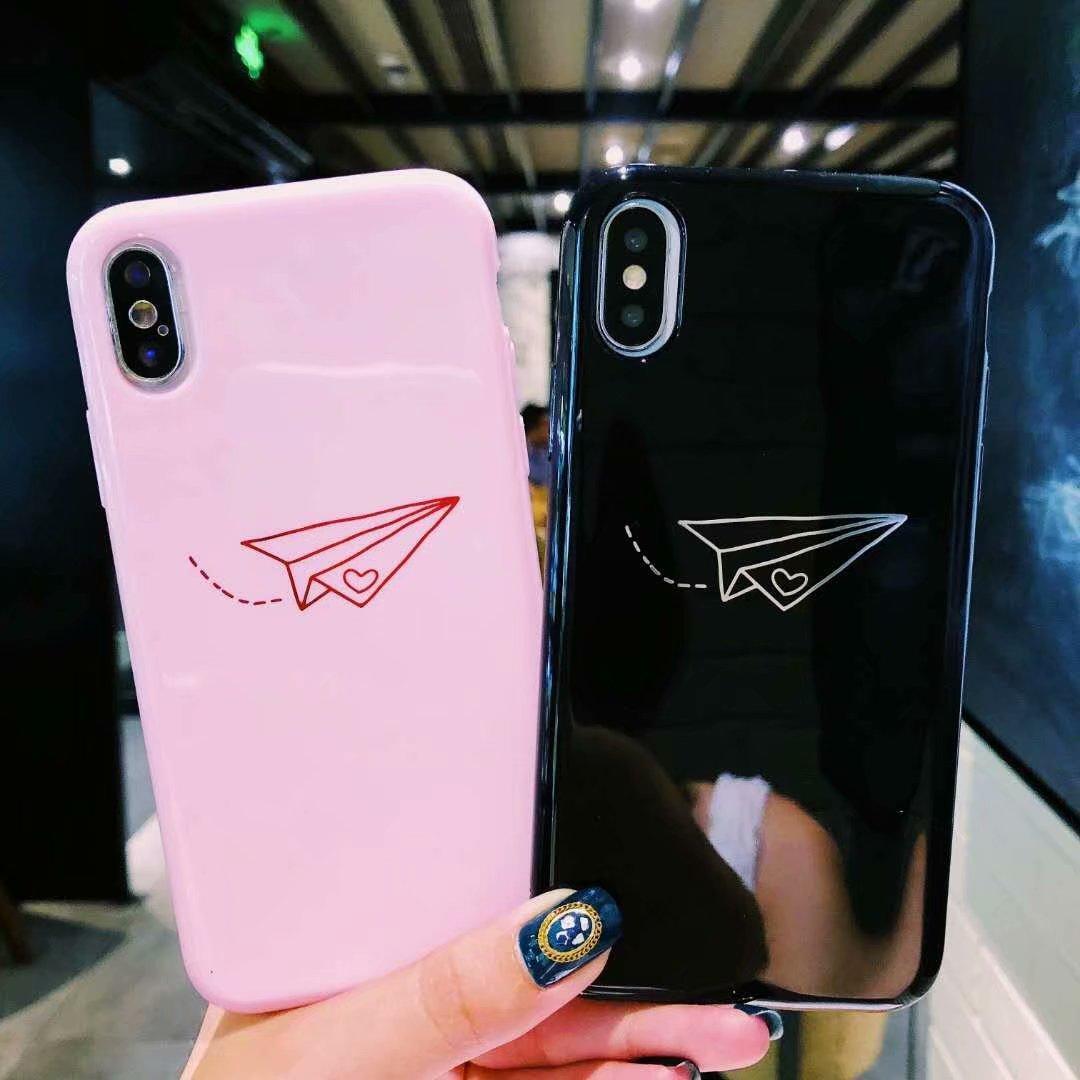Telefono Caso coppia per iPhone 11 XS Max XR X 8 7 6 lucida Plus Shell della copertura del silicone placcato oro