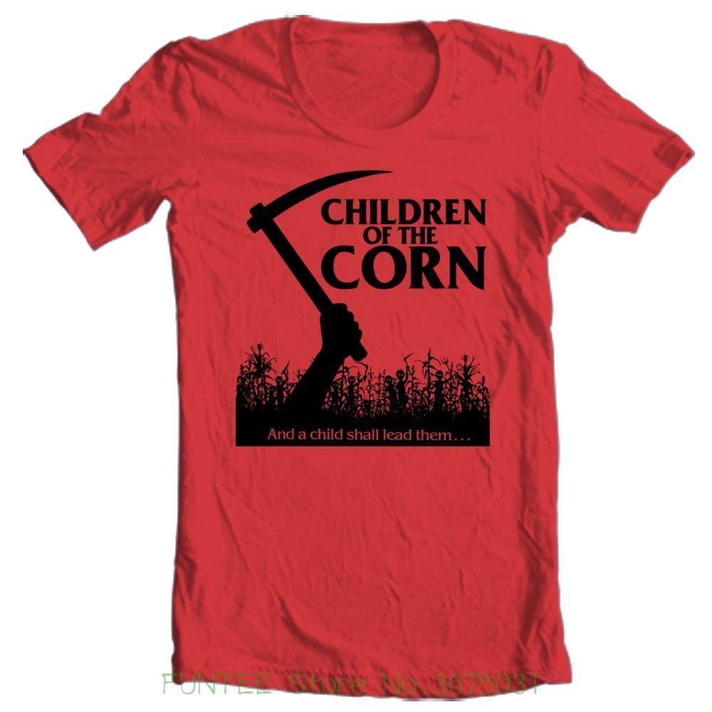 Children of Corn T-shirt retro 80/'s horror movie The Shining 100/% cotton tee