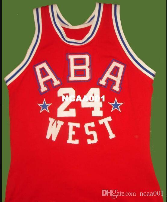 Homens Vintage # 24 Ron Boone BRANCO Estrada RETRO Início malha de tecido bordado Full Size S-4XL ou personalizado qualquer nome ou número de camisa Colégio