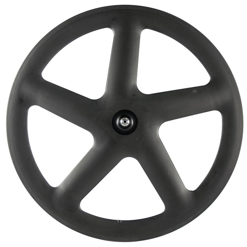 Factory Full Carbon 5 Spoke Road/Fixed Bike Tubular/Clincher 3k Matte Spoke Wheelset Front And Rear