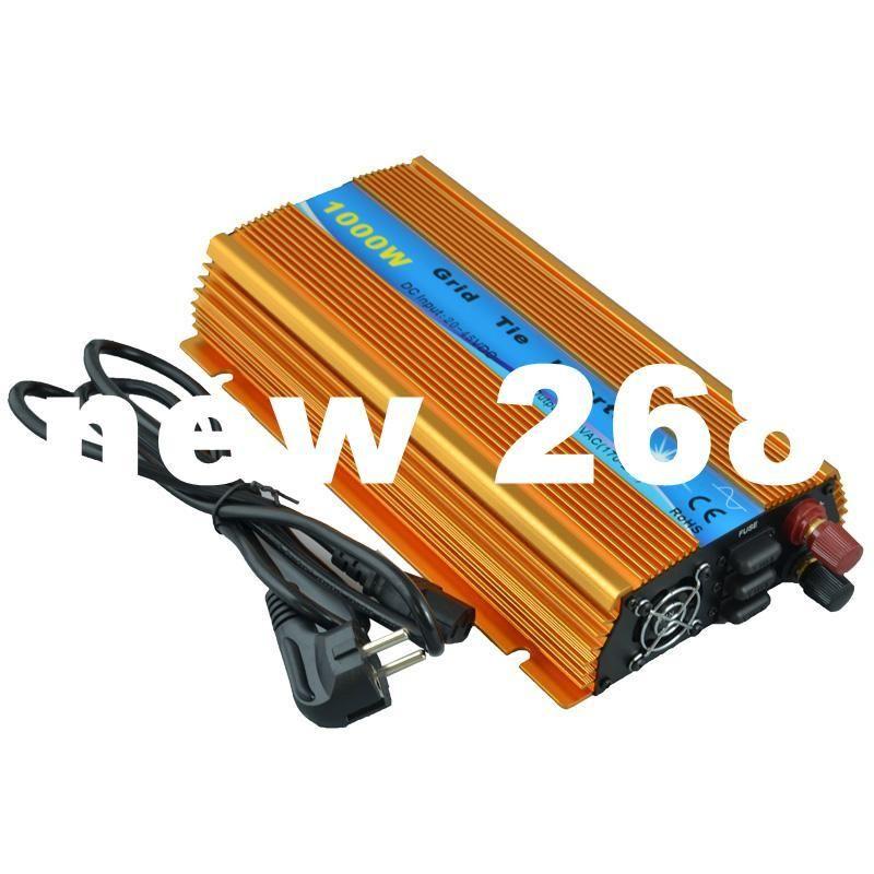 Freeshipping 1000w grid tie inverter, 20V-45VDC, AC90V-140V or 190V-260V, workable for 1000W, 24V, 30V, 36V solar panel system