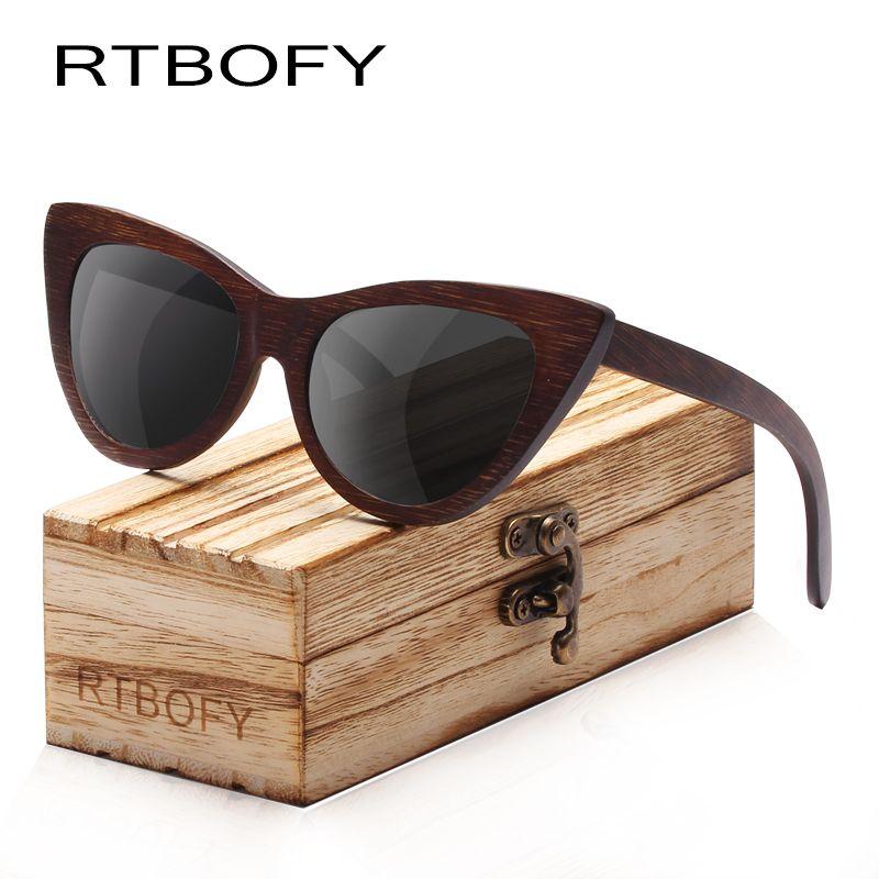 Madera de Bambú con textura de madera auténtica templos redondo para hombre para mujer Gafas de sol UV400