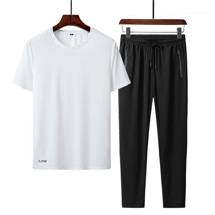 Ensembles de costumes d'été Survêtements Adolescent Sports Plus Taille Casual Hommes manches courtes T-shirts Pantalons Costumes Vêtements