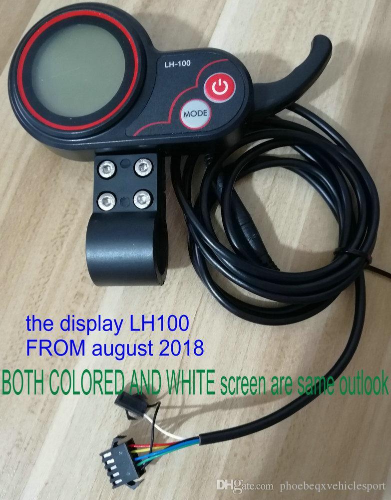 LCD Ekran Beyaz / Renkli Ekran + ShifterController 24V36V48V60V250W350W-1000W Elektrikli Bisiklet Aksesuar Scooter MTB Mobilite Parçaları için