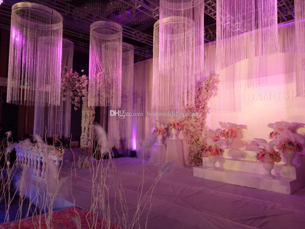 use for hangging only )New style Beautiful wedding hall line ceiling hanging chandelier for wedding event party hotel decoration