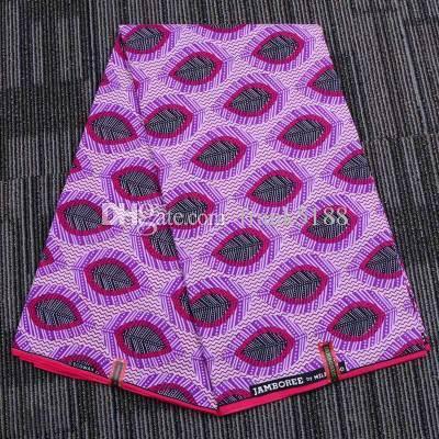 Ankara Polyester Cire Prints Tissu Binta Véritable WAX de haute qualité 6 yards Afrique Tissu Party Dress