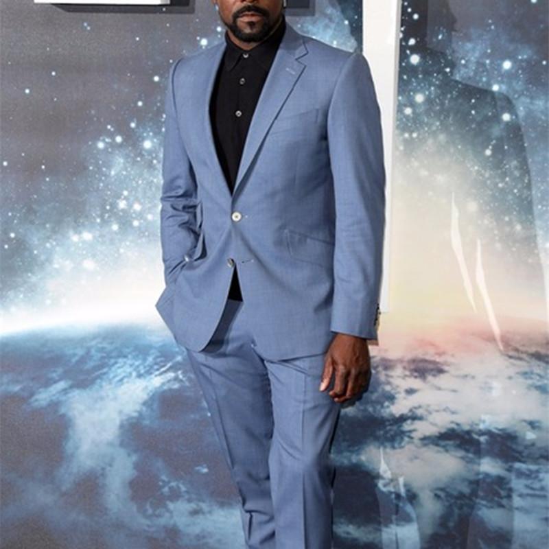 Mens Slim fit light-colored men's suit suit men's wedding dress dress party custom (jacket with Trousers) 201