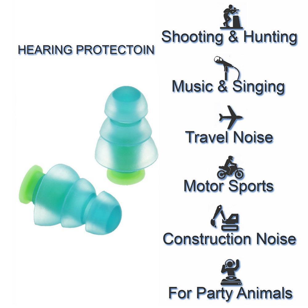 1 Paar Silikon Noise Cancelling Gehörschutz Ohrstöpsel für Konzert Schlaf