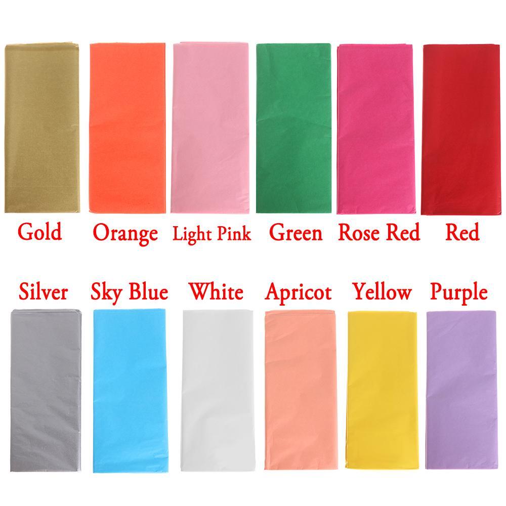 50pcs / bolsa de 50x66cm del tejido Embalaje de regalo flor de papel de envolver Arte de papel del rollo de papel del vino Shirts Zapatos Ropa de embalaje de embalaje