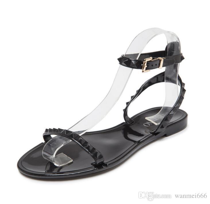 L'Europe et les États-Unis nouveaux sandales en plastique gelée en plastique de la mode féminine à bout ouvert chaussures de plage