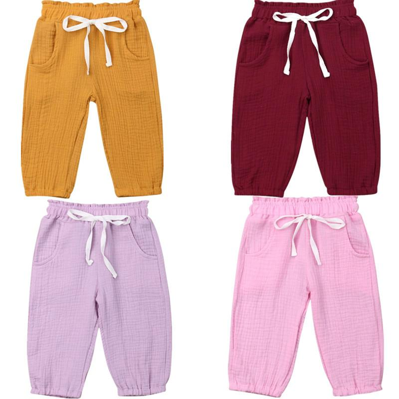 США фондовый малыш детские дети девушки пены хлопок сморщенные шаровары трусы леггинсы брюки