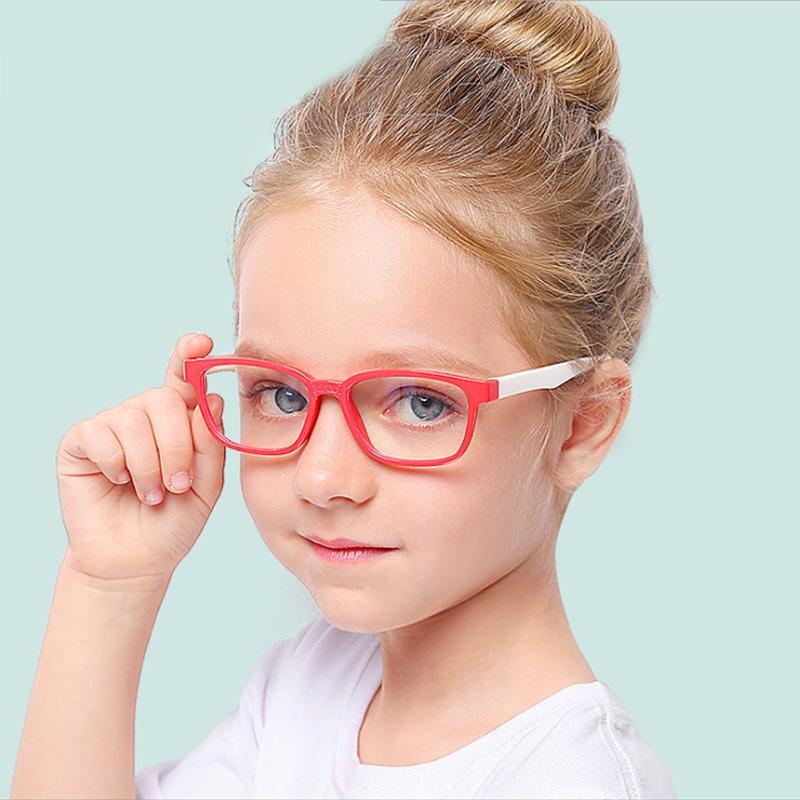 Старинные очки Дети Анти-синий свет Мальчик Девушки Дети Солнцезащитные очки Clear Компьютер Flexible Optical дерево синтаксиса прояснит кадров óculos UV40