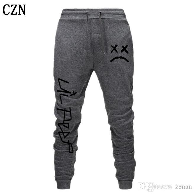 Envío gratuito Lil pío Pantalones Hip Hop Loose pantalón Hombres / Mujeres gimnasios pantalones pantalones casuales pantalones del basculador del basculador EL-6