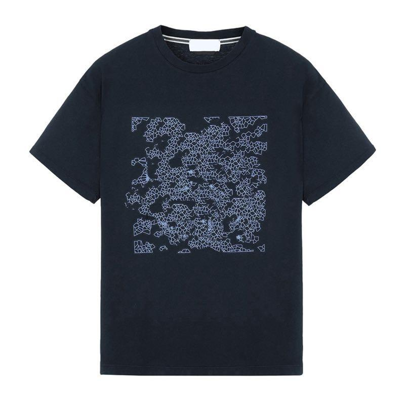 19SS GRÁFICO DOIS T-SHIRT TOPSTONEY Geométrica Impressão Tee Moda Classial Solto 6 Cores Das Mulheres Dos Homens de Manga Curta T-shirt HFSSTX0004