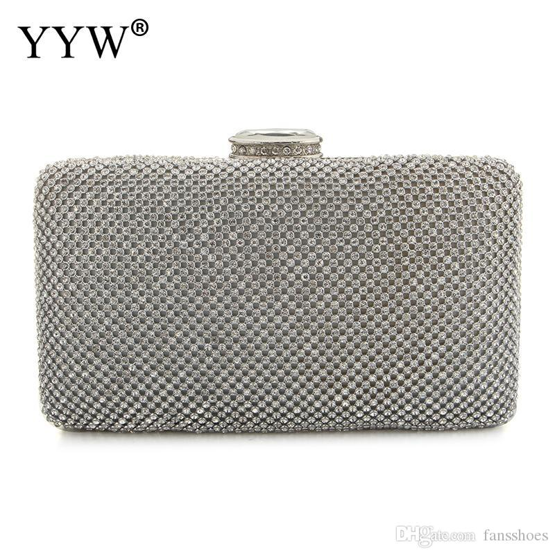 850a9d58029 Small Evening Bag Women Clutch Bag Designer Women Silver Clutch Bags With  Rhinestone For Party Day Clutches Purses #284734