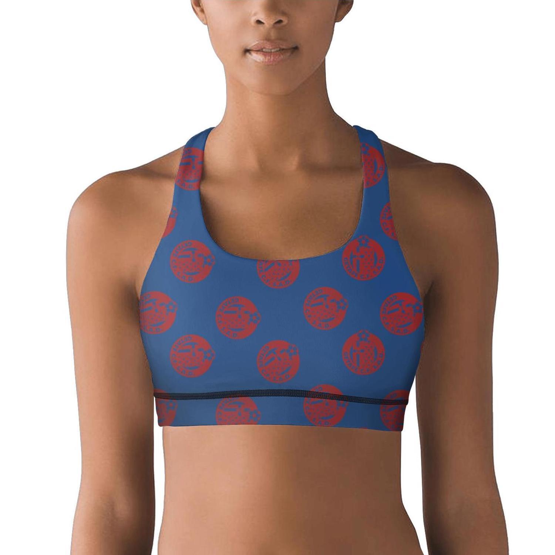 Getafe Club de Fútbol S.A.D. Azulones El Geta black 100% Polyester Fiber Vest Breathable Yoga Top Quick-Drying Yoga Bra Designer Custom