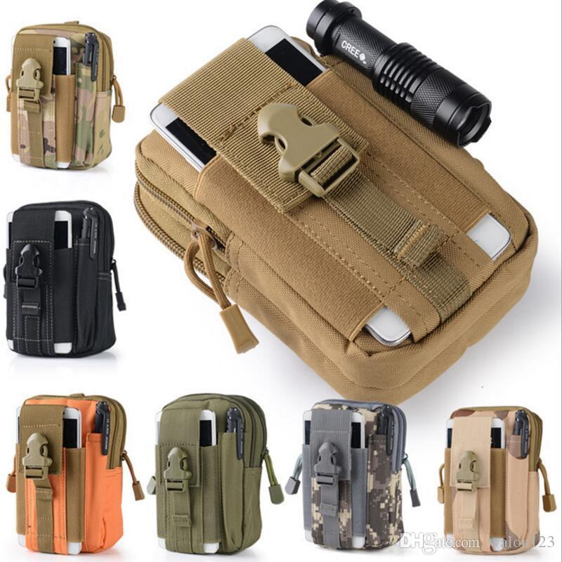Wholesale Universal Outdoor Tactical Holster Molle Hip Waist Belt Bag Wallet Pouch Purse Phone Case With Zipper Fanny Pack Pocket