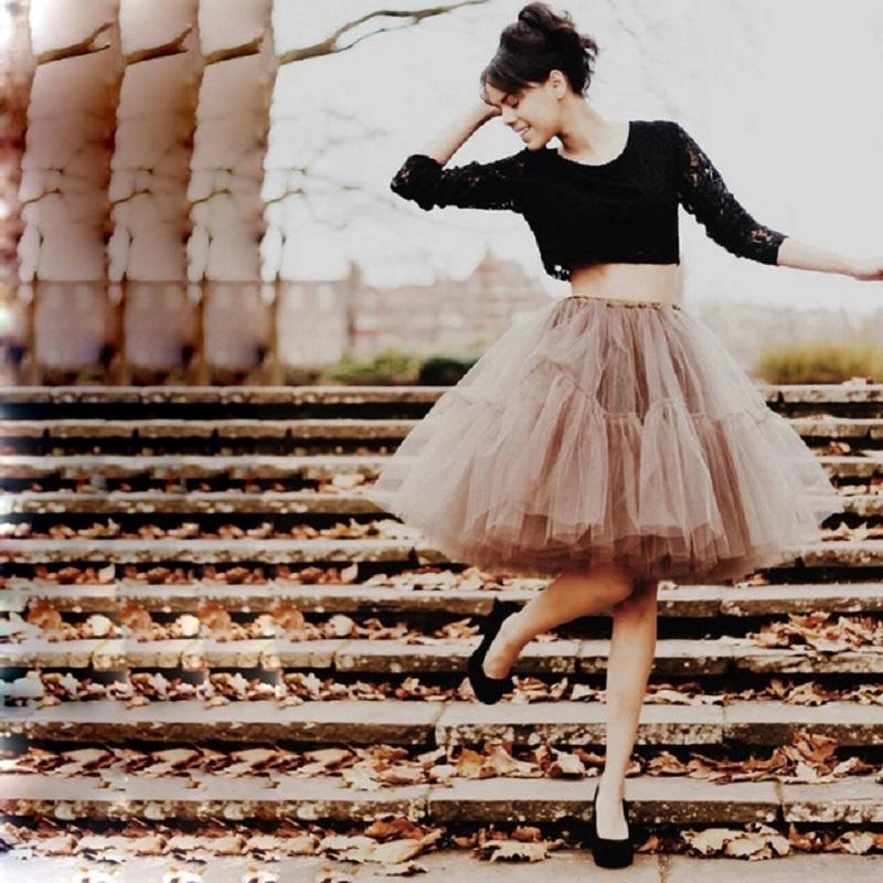 Libre 5 Capa 2019 tutú de tul faldas Midi manera del partido de la falda de las mujeres Diseño Saias Femininas formal Faldas Cortas