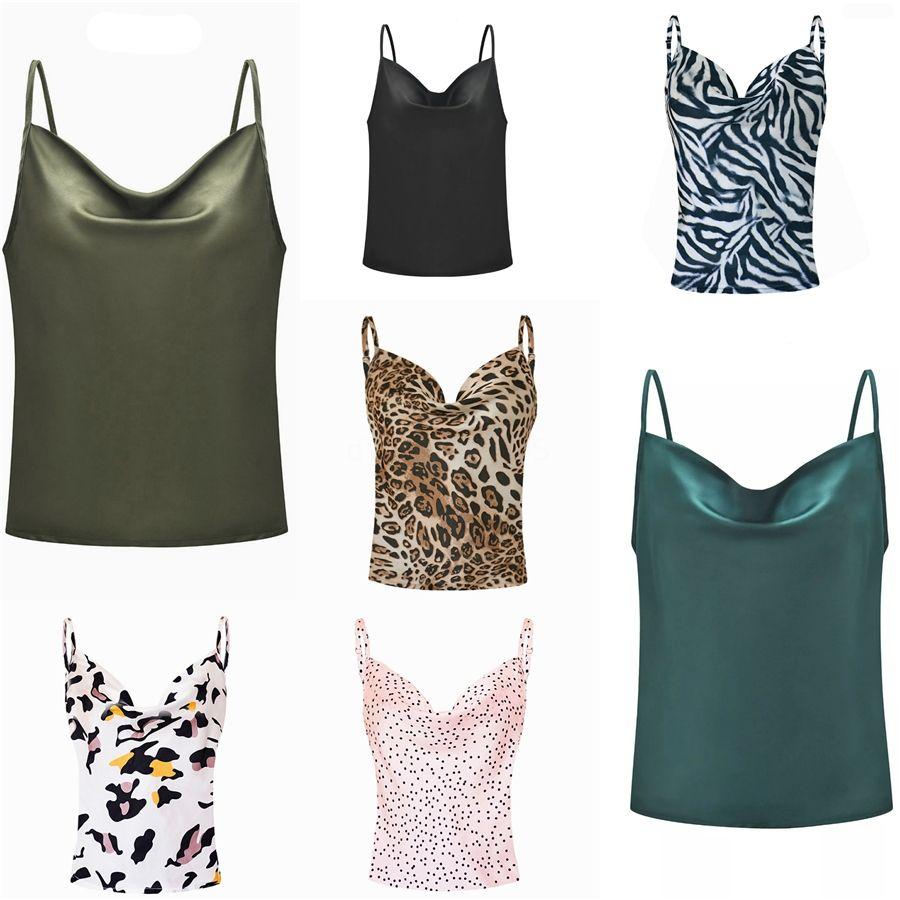 Férias Multicolor Mulheres Regatas Streetwear Tropical Imprimir Alta Baixa em torno do pescoço Boho 2020 Verão Top coletes # 650