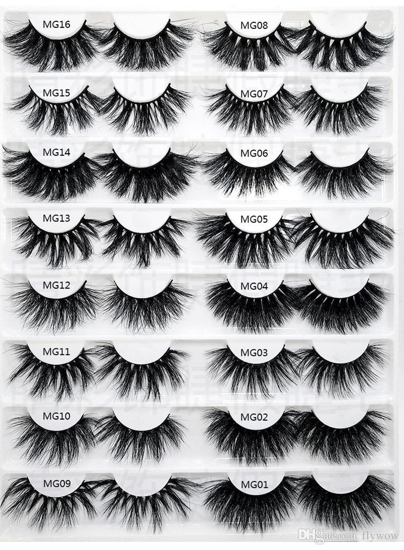 Top Long Dramatic Mink Lashes 5D Mink Eyelash 5D 25mm Long Thick Mink Lashes Handmade False Eyelash Eye Makeup Maquiagem LD Series 20 Styles