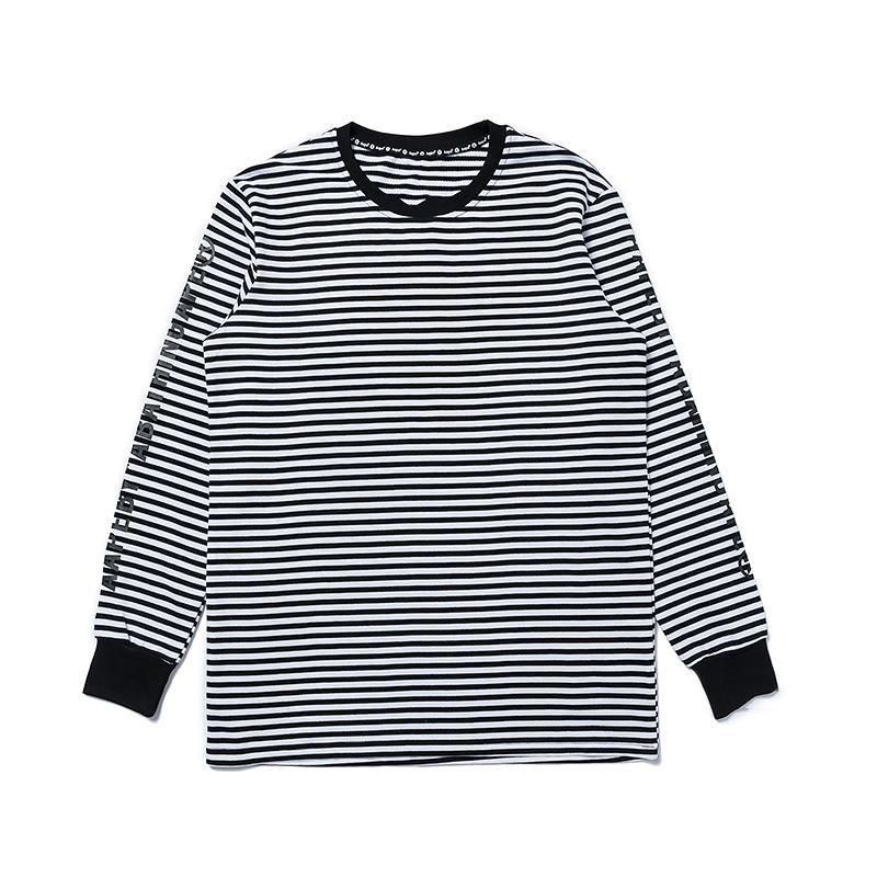 Mens-Entwerfer-Marken-Sweatshirt Fahsion Pullover Affe-Kopf-Druck Weiß Schwarz-Streifen-Straße Hiphop Langarm-Kapuzenshirt Luxus Bluse B101066L