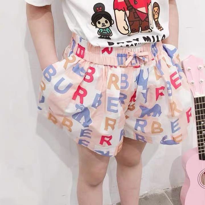 الصيف الطفل بنات سروال أطفال بنات سروال رسالة موضة الجيب ملابس الأطفال
