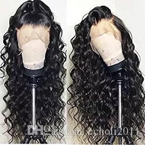 Loose curly wavy ponytail lace front human hair wig 180%density full end pre plucked 360 lace frontal wig for black women natural hairline