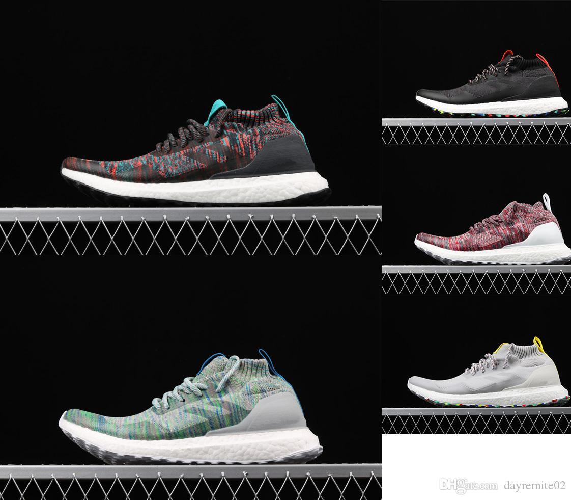 2019 أعلى جودة فائقة الاحذية دفعة منتصف أحذية رياضية مصمم الأصلي kith الجوارب أحذية في الهواء الطلق تنفس الاحذية أحذية رياضية عارضة