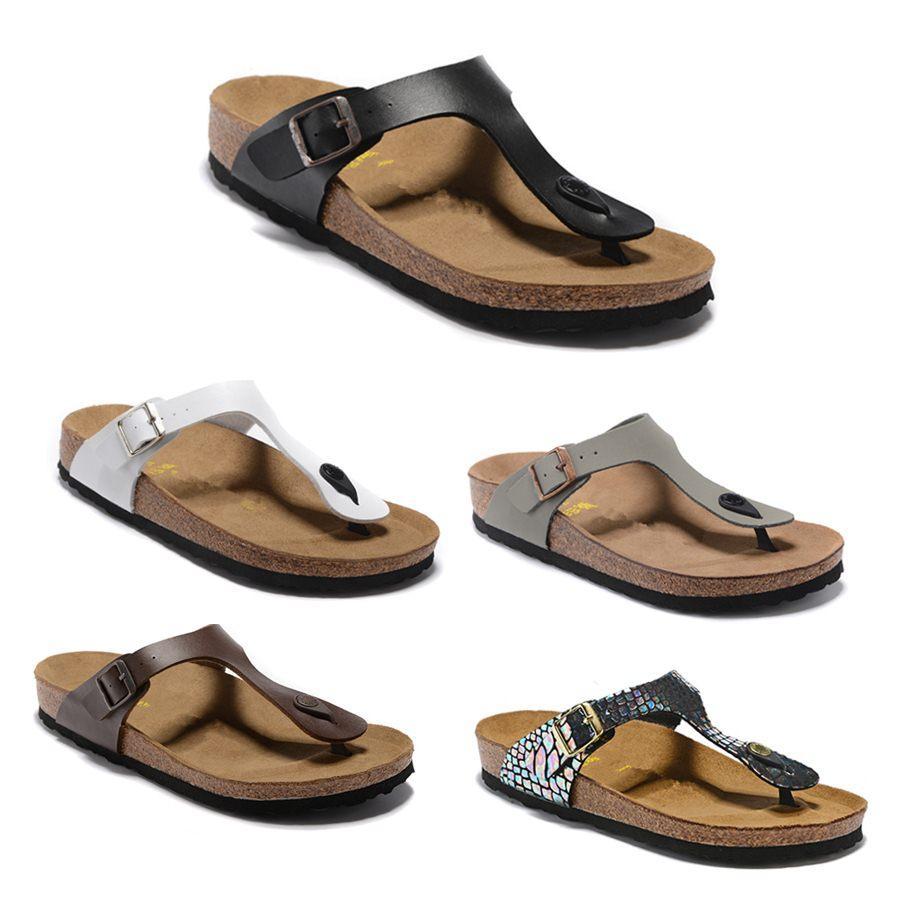 Mayarí Arizona Gizeh 2020 flip flop diseñador del verano mujeres de los hombres pisos deslizadores de las sandalias de corcho imprimir mixtos de playa sandalias de diapositivas de piel 34-46