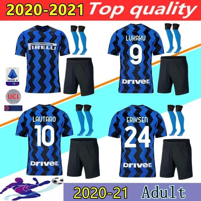 20 21 Inter Milan LUKAKU LAUTARO SKRINIAR Camisa de futebol 2020 2021 ALEXIS PERISIC SENSI BARELLA ERIKSEN BROZOVIC jérsei campeão da liga kit de futebol