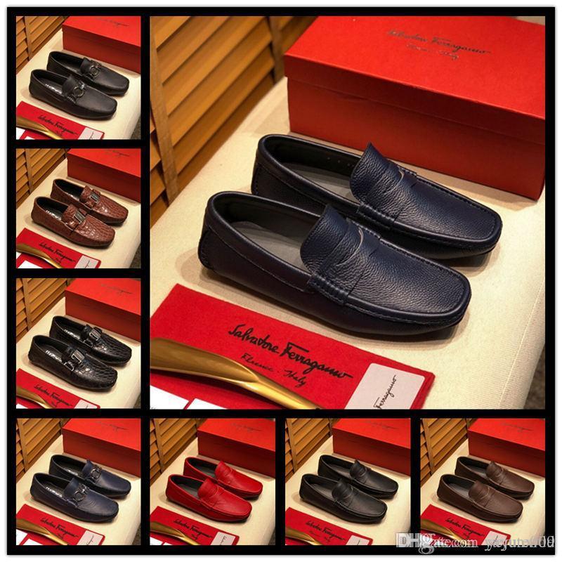 AA 22 stil Tasarım elbise ayakkabı rugan nefes beyefendi moda seyahat ofis erkekler rahat makosenler zapatos hombre boyutu 38-4