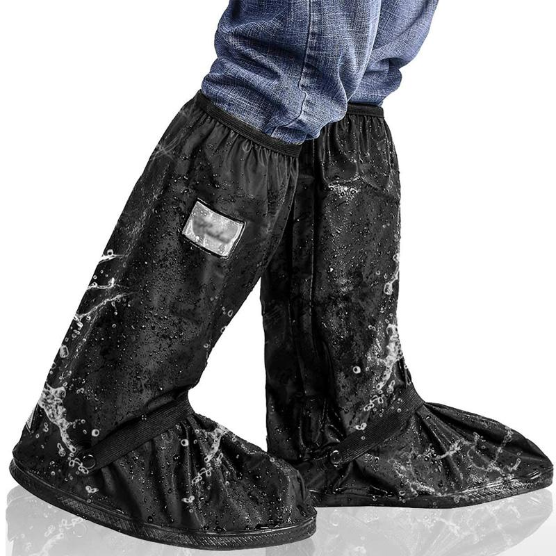 Высокая Трубка Многоразовые Дождевые Бахилы Водонепроницаемые Протекторы Обуви Женщины Мужчины Резиновые Галоши Мотоцикл Велоспорт Эластичные Сапоги Крышка