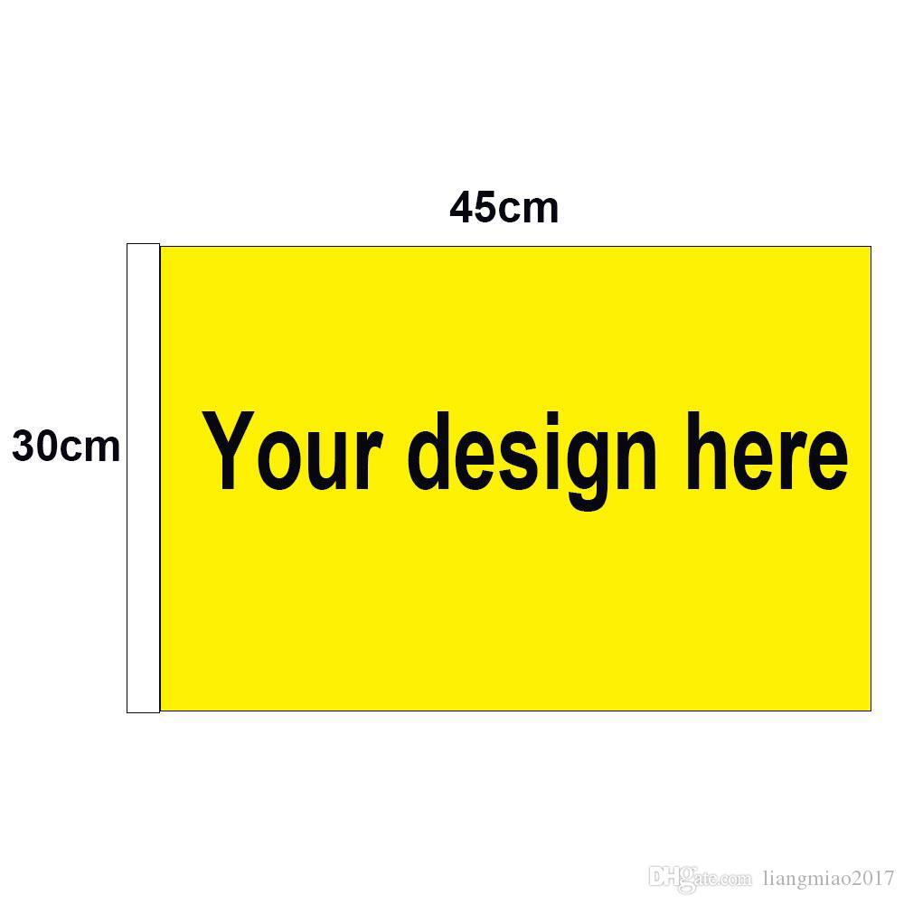 30cm x 45cm Custom Car-Flagge mit weißen Streifen 1 * 1.5ft Flaggen Drucken