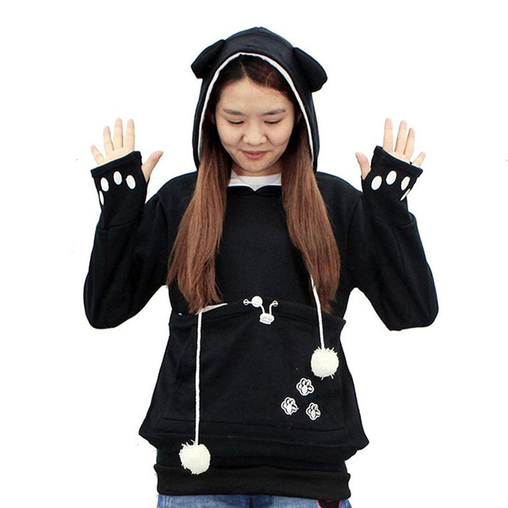 Womens Hoodie Women Designer Clothes Casual Animal Ear Hoodie Cartoon Hooded Hoodies Lover Cats Kangaroo Dog Hoodie Cool Sweatshirt