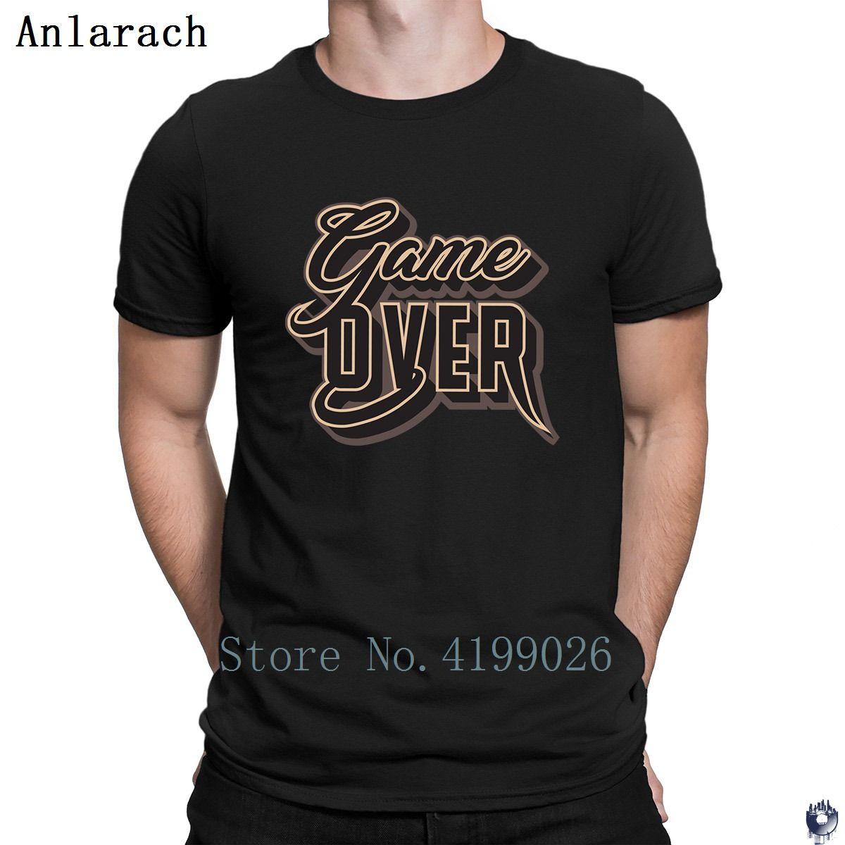 Game Over tshirts mieux créer l'été masselotte été la vente des t-shirts hommes Euro mince Taille Anlarach de base solide