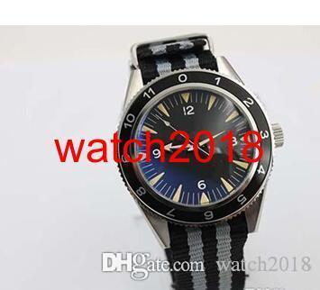 Lüks İzle Otomatik 300 Spectre Sınırlı Üretim Erkekler saatler Renk Kumaş Bant Cam Geri Kronometre James Bond Spectre Erkek İzle