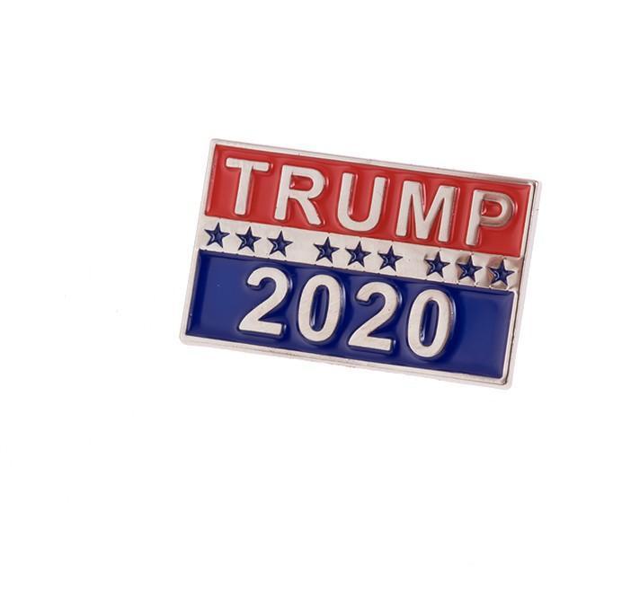 2020 دونالد ترامب بروش المعادن زر شارة القماش دبابيس رئيس الولايات المتحدة حملة النساء الرجال والمجوهرات أحدث