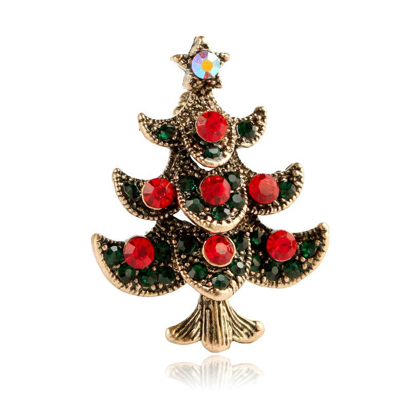 Fashion-selling clothing and ornaments in Europe and America; creative Christmas gifts; Christmas tree Brooches