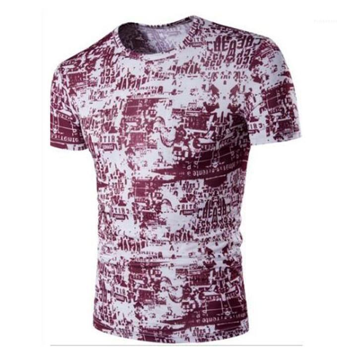 Hombre Camisetas floral del verano para hombre del diseñador de moda de las camisetas Camisetas de manga corta superior del diseñador en 3D