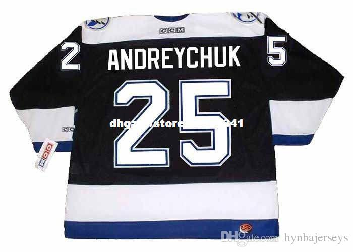 Wholesale Mens DAVE ANDREYCHUK Tampa Bay Lightning 2004 CCM Home Cheap Retro Hockey Jersey