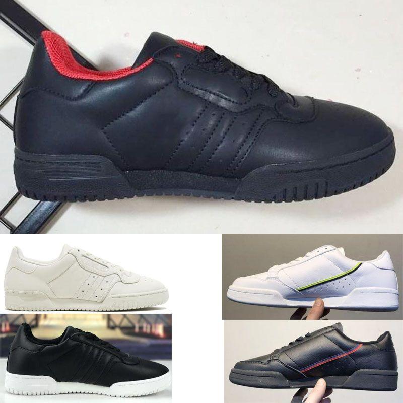 Acheter Designer Shoes Adidas Men Women Calabasas Powerphase Grey Continental 80 Chaussures De Sport Kanye West Aero Bleu Core Noir OG Blanc Hommes