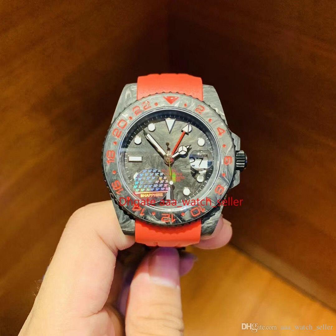 2020 Новые модные часы Мастер Роскошные Мужские наручные часы GMT 126711 116710LN Углеродное волокно 2836 Автоматическое движение Водонепроницаемые часы